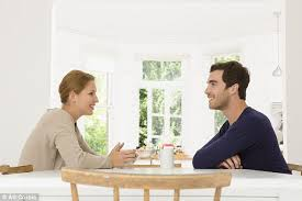 couple chatting